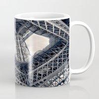 eiffel Mugs featuring Eiffel Steel by Ewan Arnolda