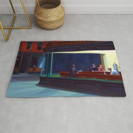 Edward Hopper Nighthawks Rug