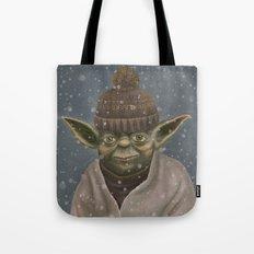 Christmas Yoda Tote Bag