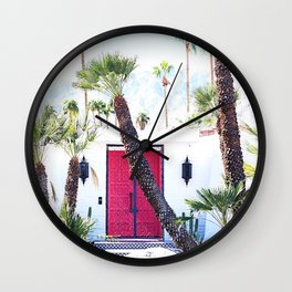 That New Pink Door Palm Springs Wall Clock