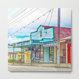 Welcoming village shop Metal Print