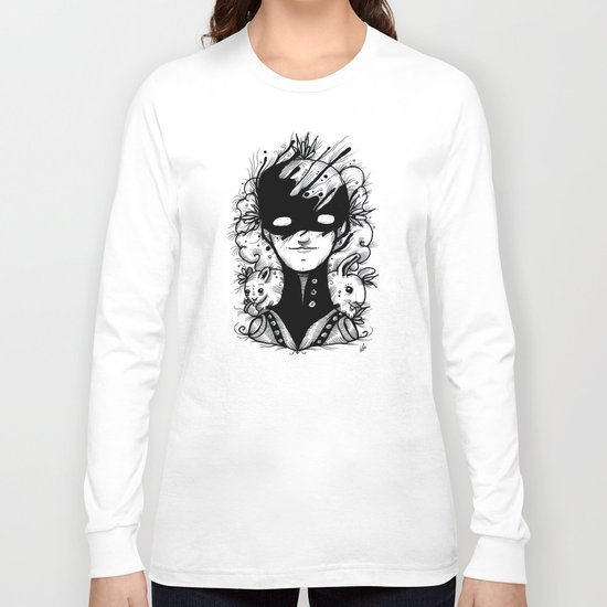 Guardians of the Woods (Black & White Version) Long Sleeve T-shirt
