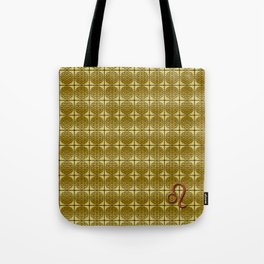 LEO Flower of Life Astrology Repeat Pattern Tote Bag