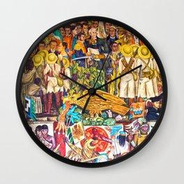 History of Mexico by Diego Rivera Wall Clock