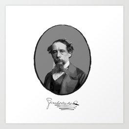 Authors - Charles Dickens Art Print