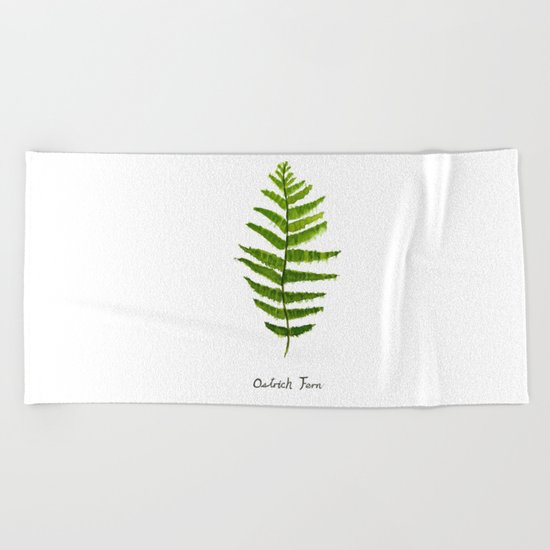 Ostrich fern Beach Towel