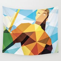 dc comics Wall Tapestries featuring DC Comics Aquaman by Eric Dufresne