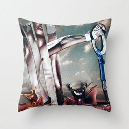 Gravity | Collage Throw Pillow