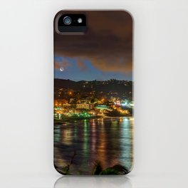 Moonrise Over Main Beach iPhone Case