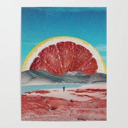 Grapefruit Beach Poster