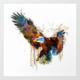 Free and Deadly Eagle Art Print