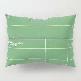 Library Card BSS 28 Negative Green Pillow Sham