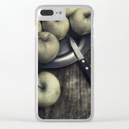 Still life with green apples Clear iPhone Case