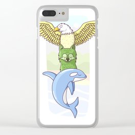 Earth, Wind and Water Clear iPhone Case