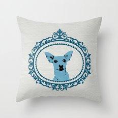 Aristocratic Mini Pinscher Throw Pillow
