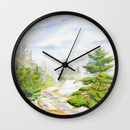 On The Hill Of Christmas Cove Wall Clock
