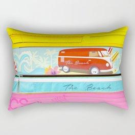 Graffiti Beach Rectangular Pillow
