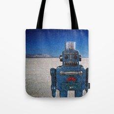 Blue Robot Tote Bag