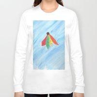 blackhawks Long Sleeve T-shirts featuring Feathers by Smash Art