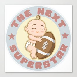 The next superstar - american football Canvas Print