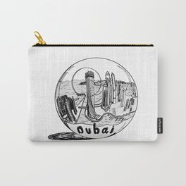 Dubai in a glass bowl . illustration Carry-All Pouch