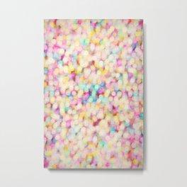 Candyfloss Bokeh Metal Print