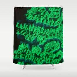 Amazing Green Fluorescence Shower Curtain