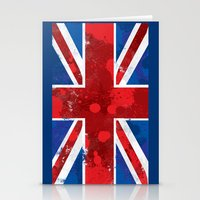 union jack Stationery Cards featuring Union Jack by Riley