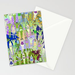 Solar Martian Green Suntan City Stationery Cards