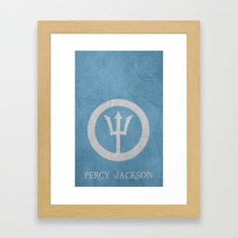 Percy Jackson Framed Art Print