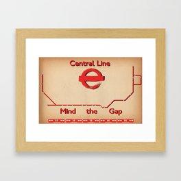 Central Line Framed Art Print