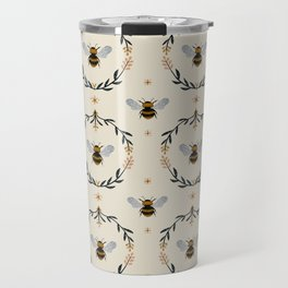 Ode to the Bumblebee (in cream) Travel Mug