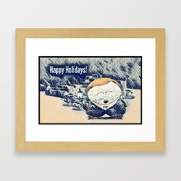 Happy Holidays! Framed Art Print