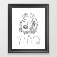 Marilyn Monroe WordsPortrait Framed Art Print