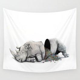 Rhino Slumber Wall Tapestry