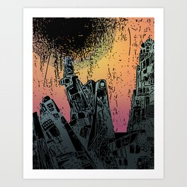 Eveningscape Art Print
