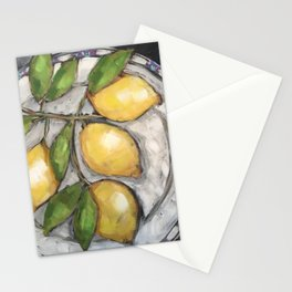 Lemons on a Wedgewood Plate Stationery Cards