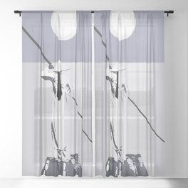 Exotic moonlight Sheer Curtain
