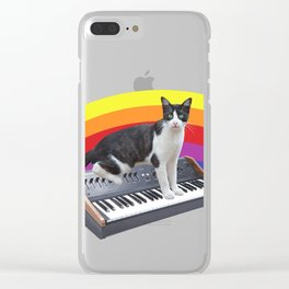 Cats on Synthesizers Clear iPhone Case