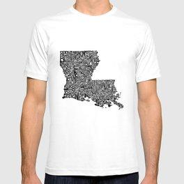 Typographic Louisiana T-shirt