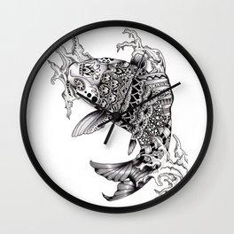Ornate Mandala Koi Design Wall Clock
