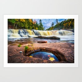 Mandio Falls - Porcupine Mountains Art Print