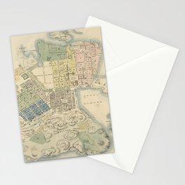 Vintage Map of Helsinki Finland (1837) Stationery Cards