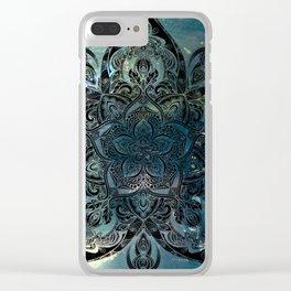 Flower mandala -night Clear iPhone Case