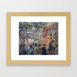 Marionette's show Framed Art Print