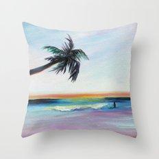 Be Back At Sunset Throw Pillow