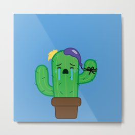 Cactus - Crying Metal Print