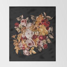 Watercolor Floral Pattern Throw Blanket
