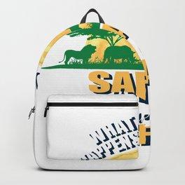 Safari Lion Nature Giraffe Elephant Steppe Gift Backpack