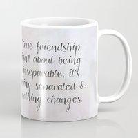friendship Mugs featuring Friendship by C Designz